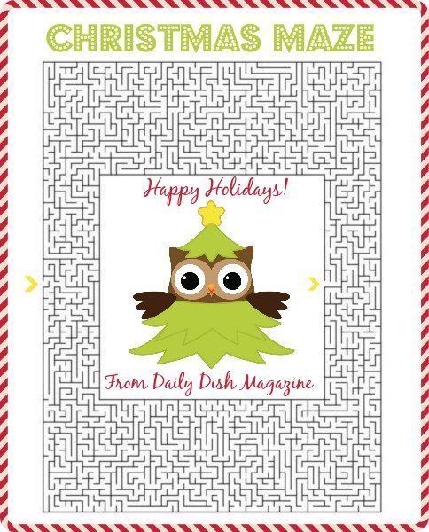 photo about Free Printable Christmas Puzzles named Totally free Xmas Maze Printable Content Holiday seasons Little ones