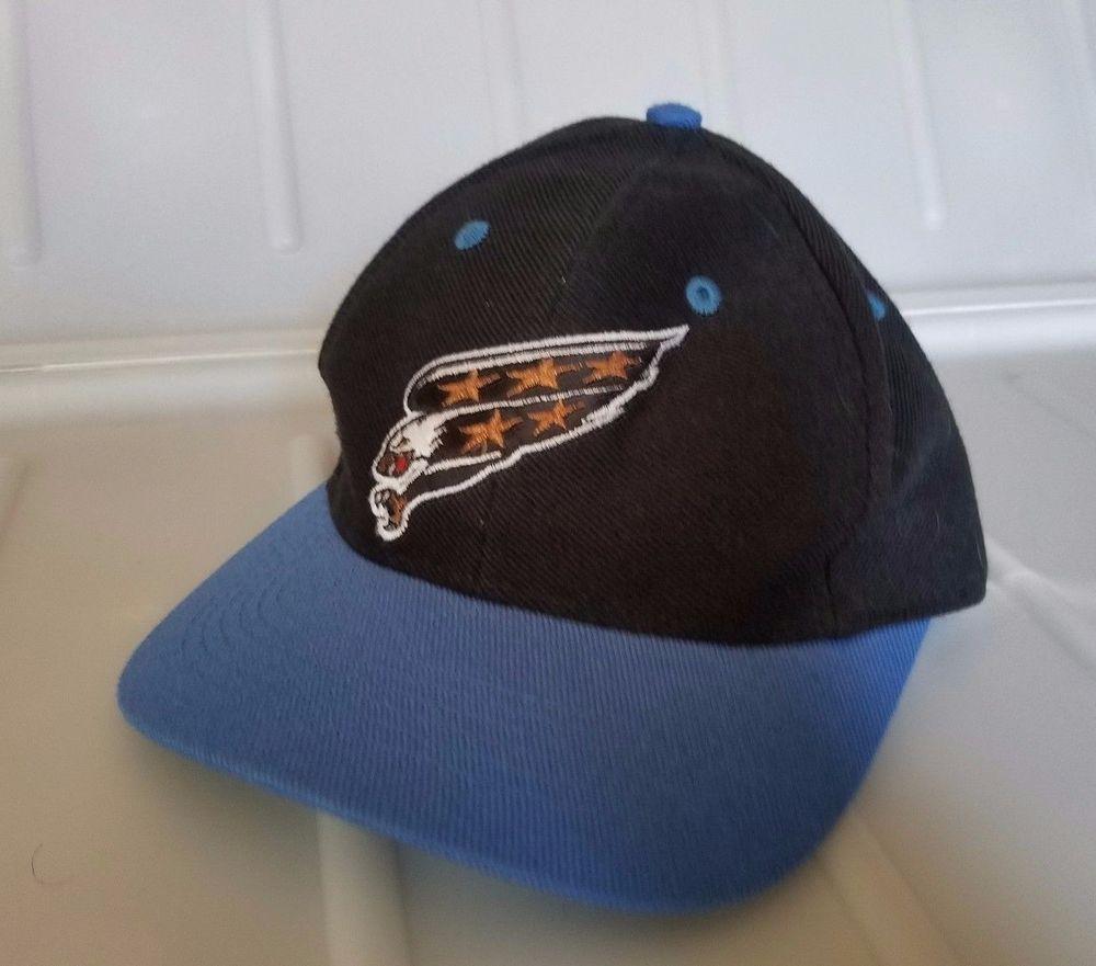 698b56c5 Vintage NHL Washington Capitals CAP Black blue Eagle TWINS Youth Snapback  Hat #TwinsEnterprisesInc #WashingtonCapitals
