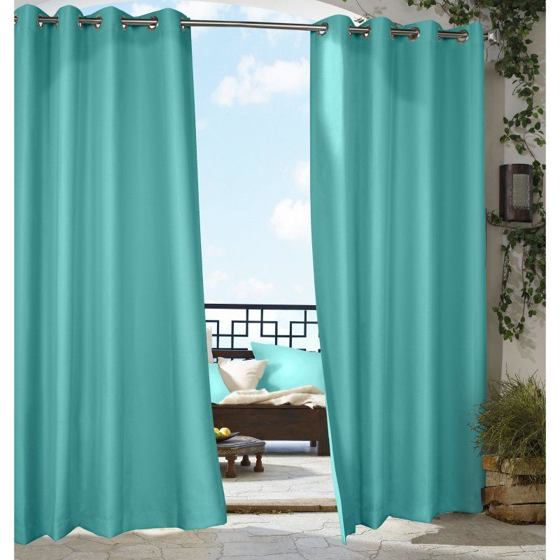 Outdoor Decor Gazebo Grommet Curtain Panel Aqua 031505096631