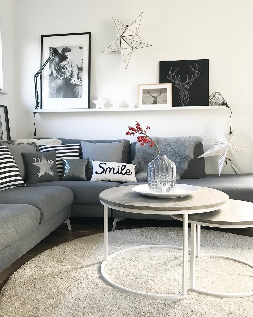 Shades Of Grey In Diesem Traumhaften Wohnzimmer Kann Man Es Sich An