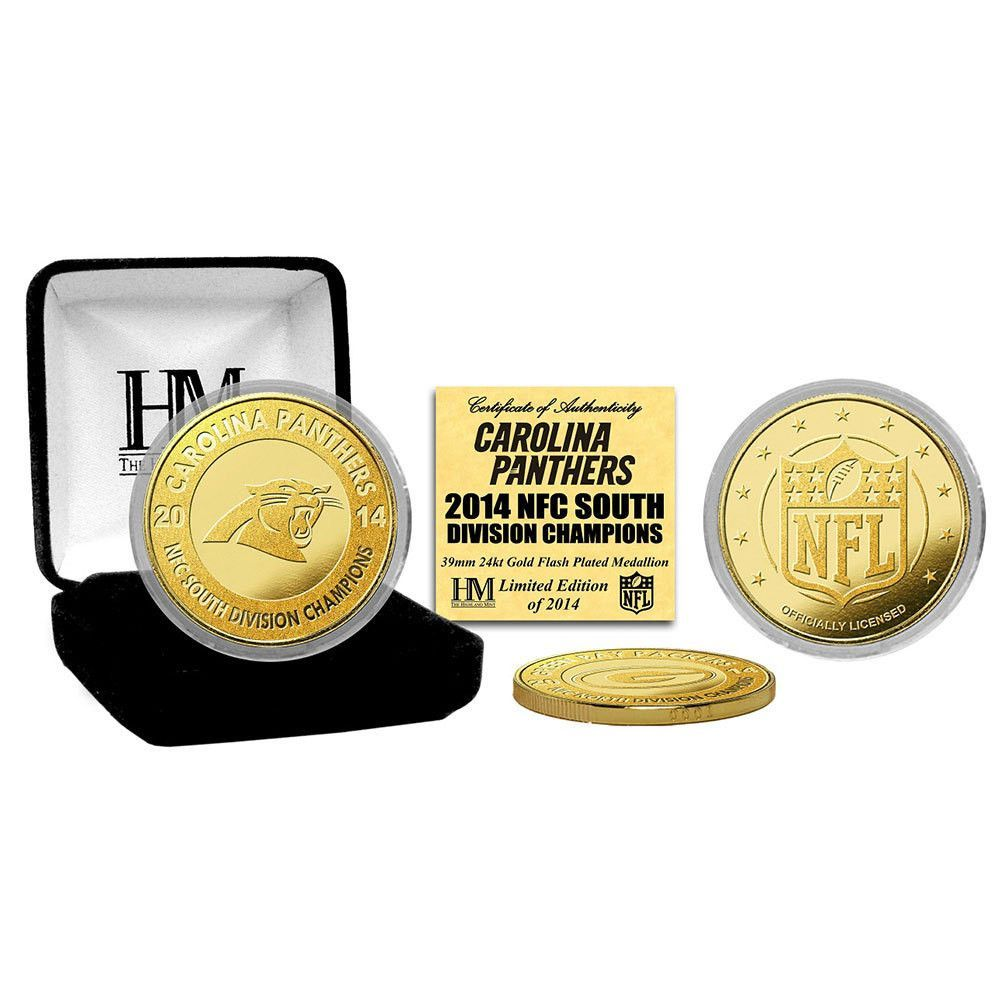 Carolina Panthers 2014 NFC South Champions Gold Mint Coin