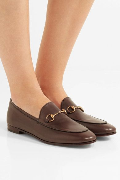 688131f200a Heel measures approximately 10mm/ 0.5 inches Chocolate leather Slip ...