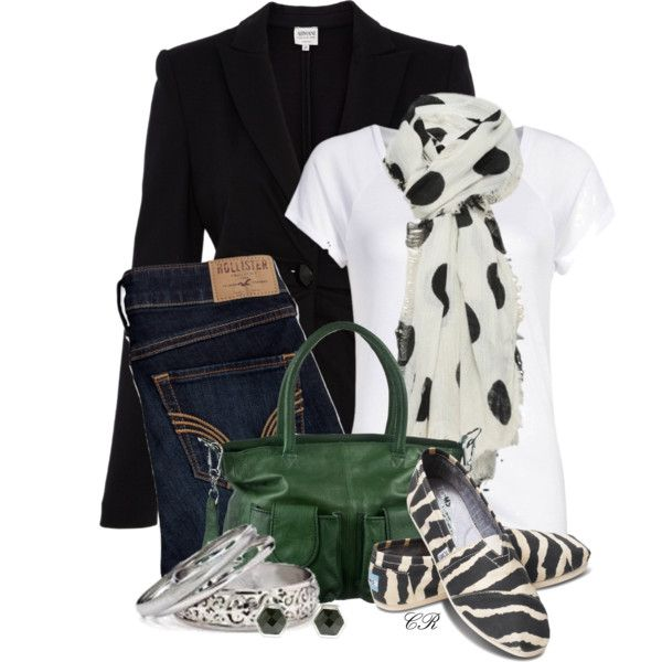 """""""Toms and a Blazer"""" by colierollers on Polyvore"""