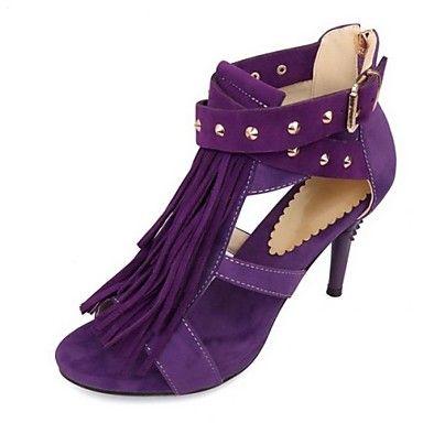 Talon aiguille T-Strap Sandales en daim femmes avec le rivet chaussures (plus de couleurs) – CAD $ 23.81