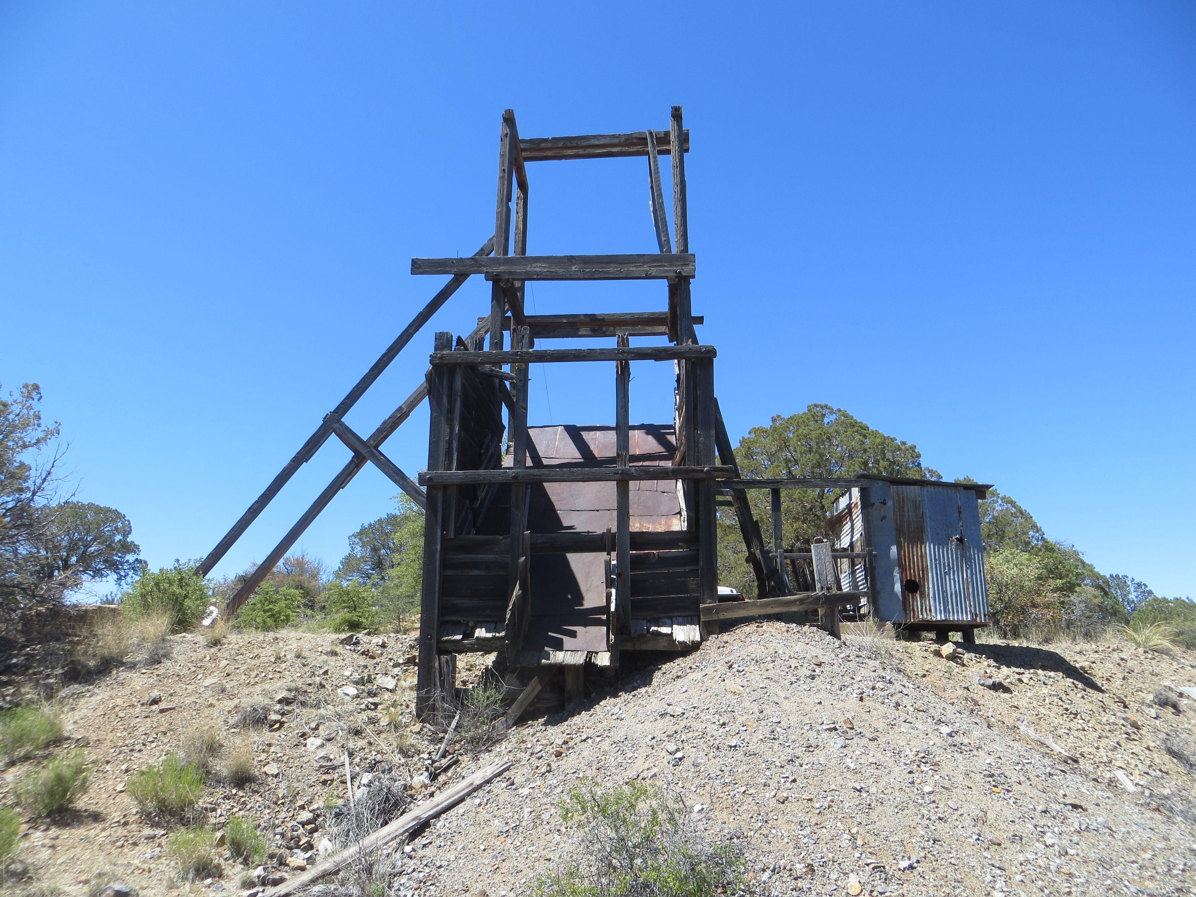 Abandoned Silver Dollar Mine Near Silver City, NM Silver