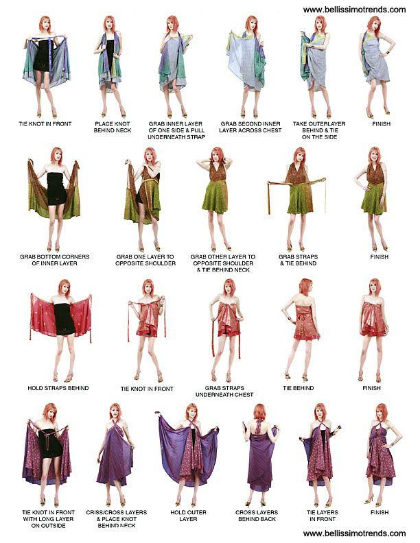 Tuch kleid wickeln