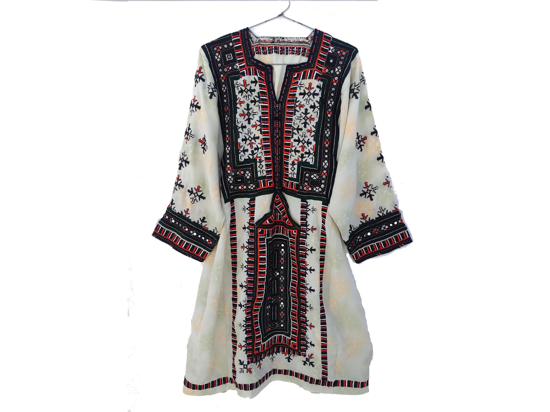 Antique Vintage Baluchi Gypsy Afghani Banjara Dress Tribal Hand embroidered dress