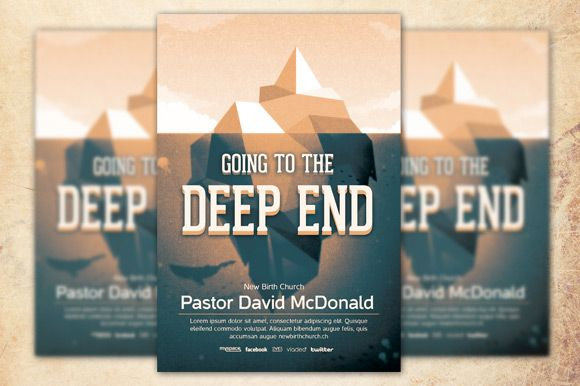going to the deep end church flyer templates flyer templates free