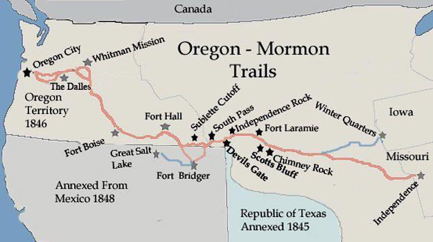 And Trail Mormon Map Trail Oregon