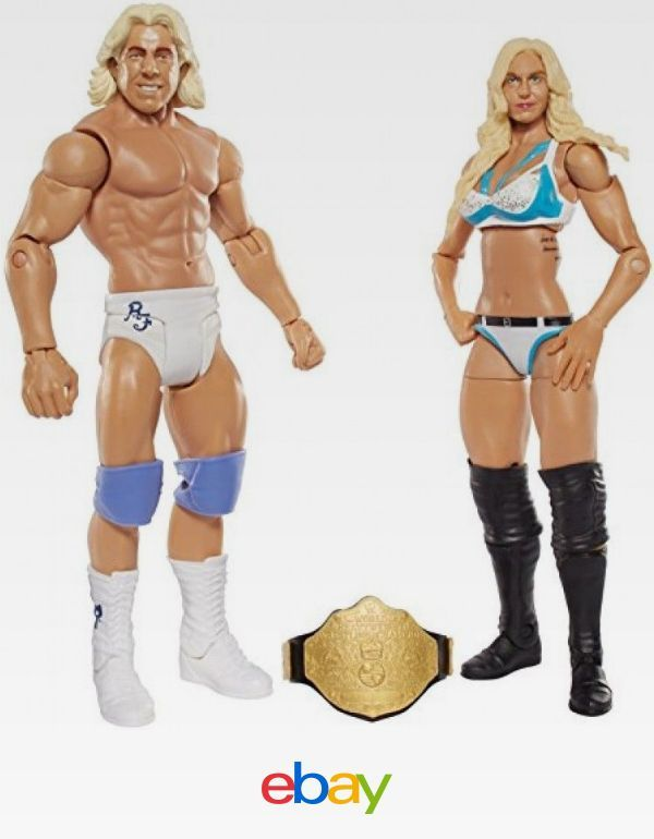 Wwe Charlotte And Ric Flair Figure (2 Pack), , Free Shipping