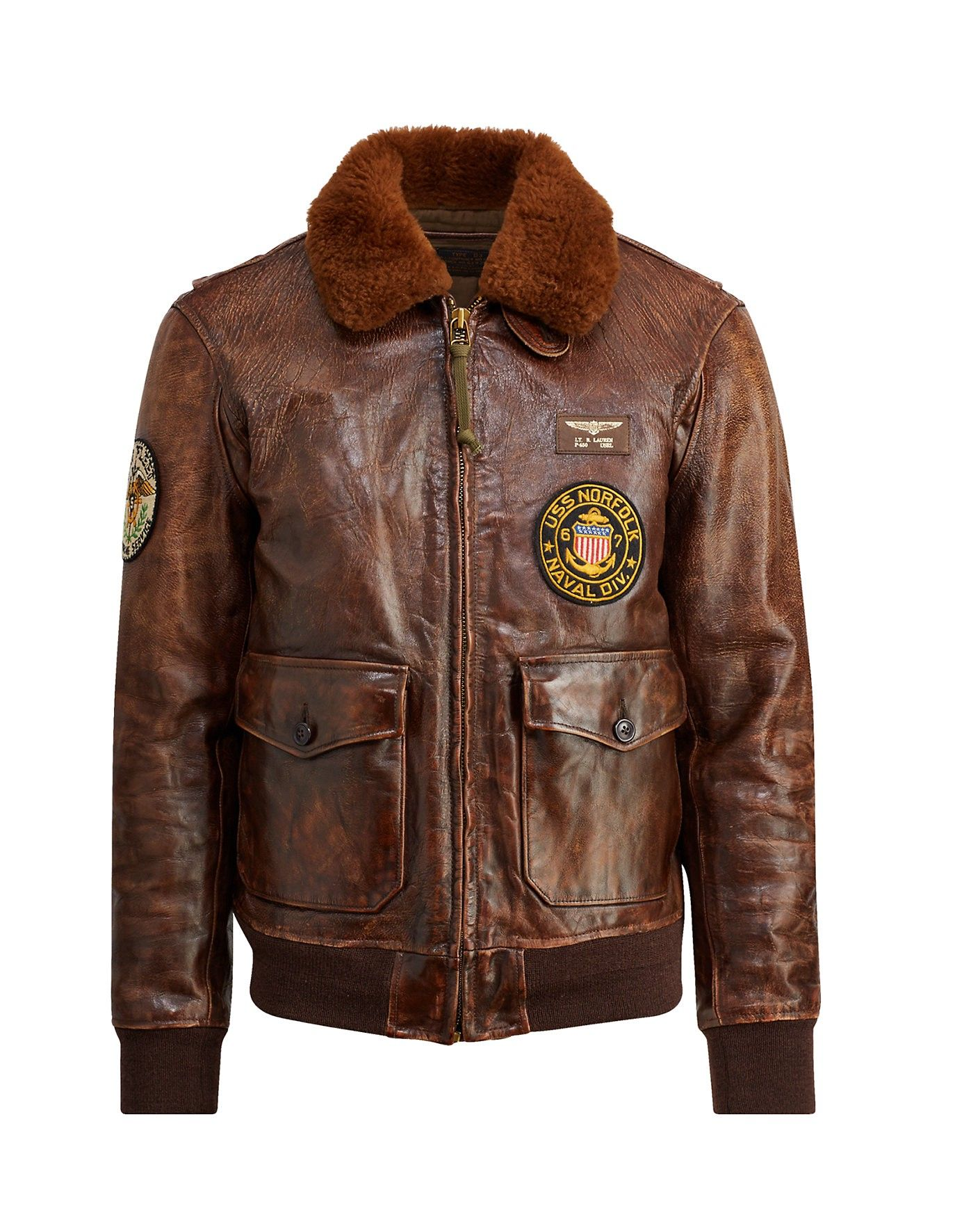 Polo Ralph Lauren The Iconic G1 Bomber Jacket In Bison