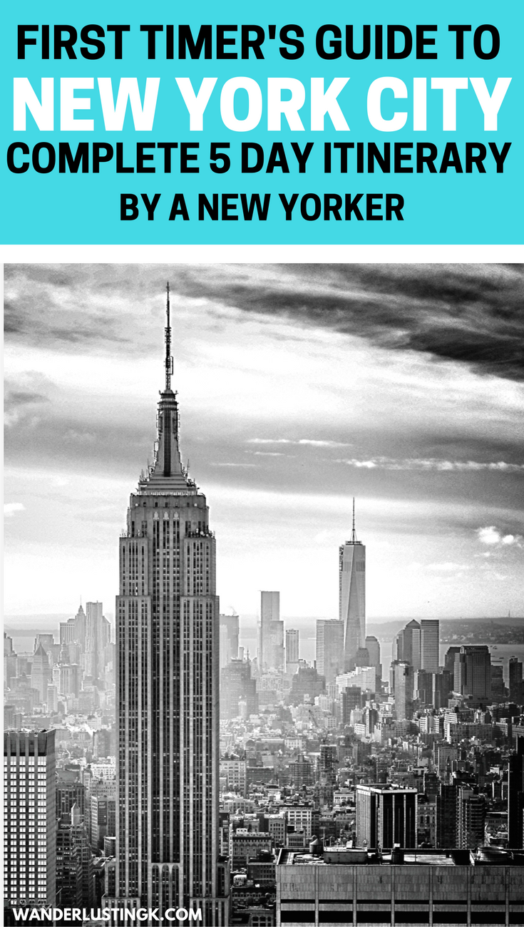 First Time Guide to New York City 5 Day Itinerary by a native New Yorker is part of First Time Guide To New York City  Day Itinerary By A Native - Your perfect itinerary for five days in New York City written by a native New Yorker
