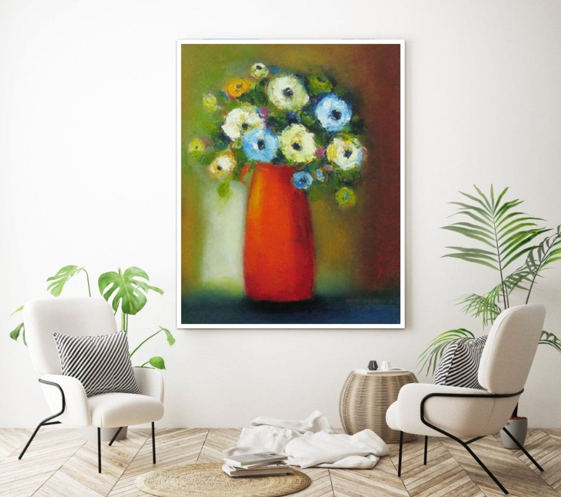 Flower Bouquet Still Life Kitchen Print Floral Wall Art