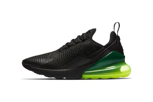 Nike Outfits the Air Max 270 in Black & Neon Green dejlig  nice