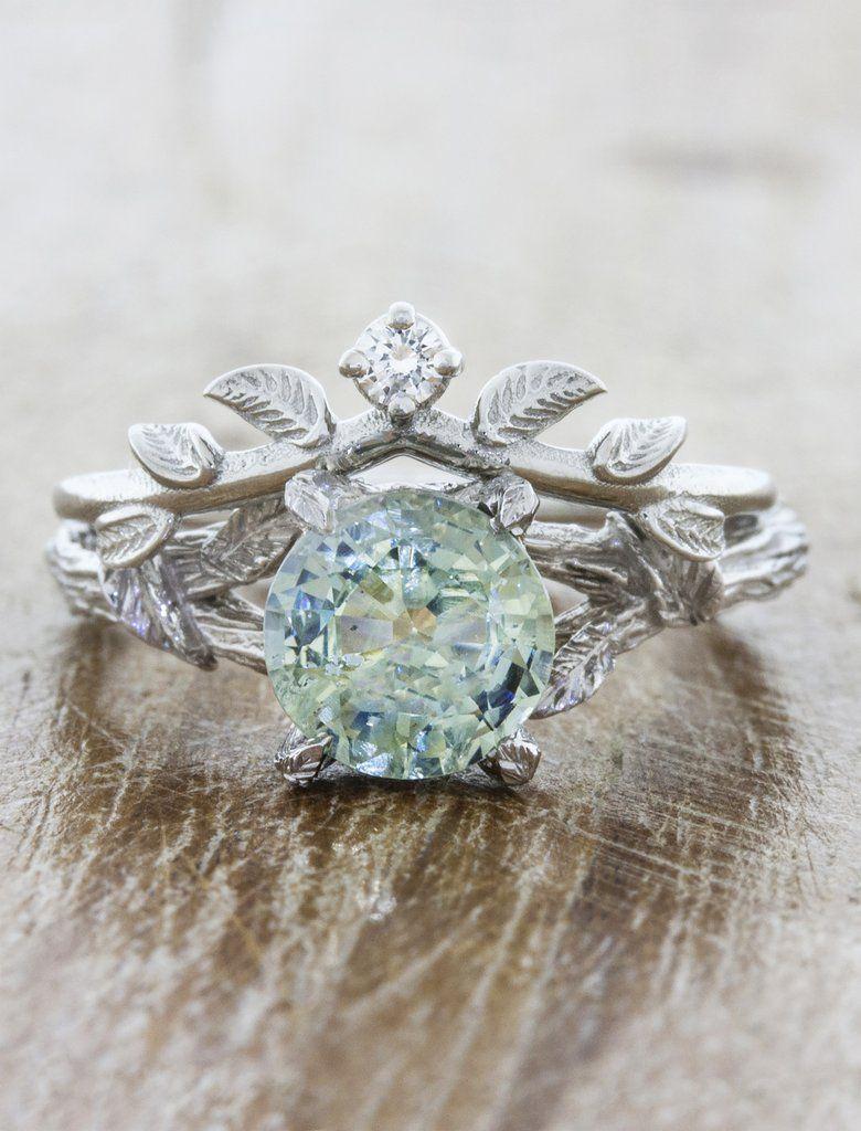 Adelixa In 2018 Leaf Bark Nature Inspired Engagement Rings