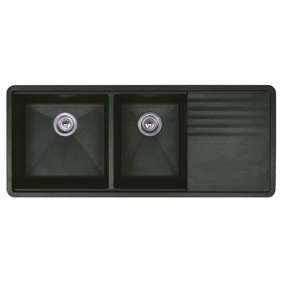 Blanco Precis 20In X 48In Anthracite Doublebasin Granite New Kitchen Sinks With Drainboards 2018