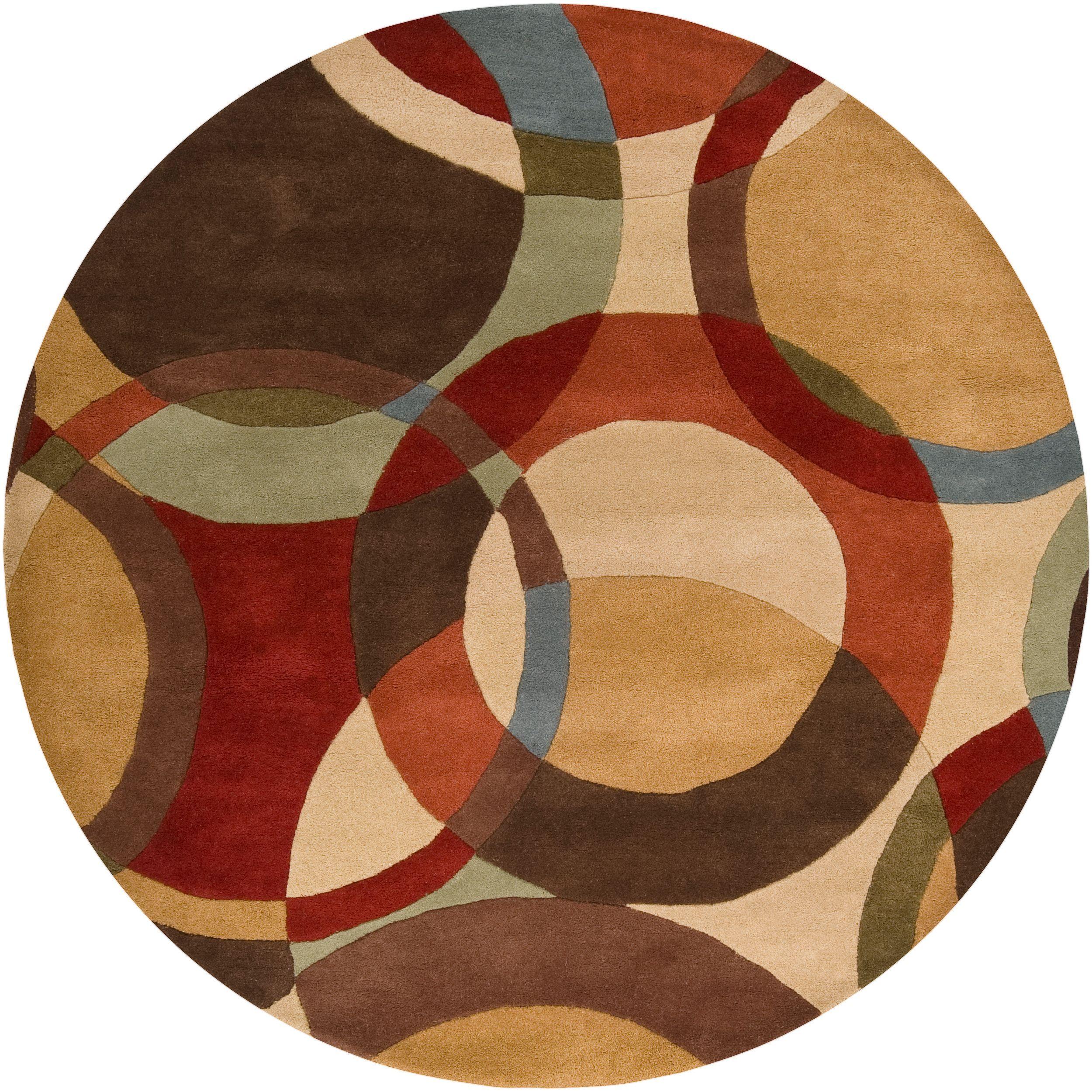 Hand Tufted Contemporary Circles Mayflower Wool Geometric Wool