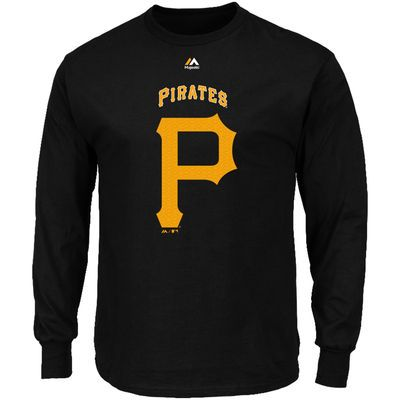 Majestic Pittsburgh Pirates Black Critical Victory Long Sleeve T-Shirt