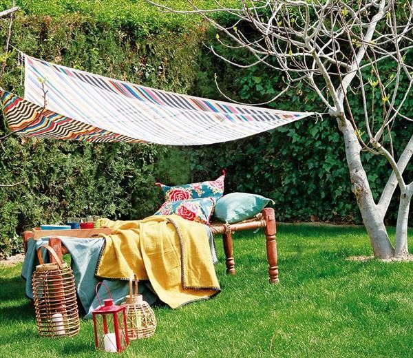 3 easy diy garden projects a shade cloth, a stool and a garden ... - Patio Shade Cloth Ideas
