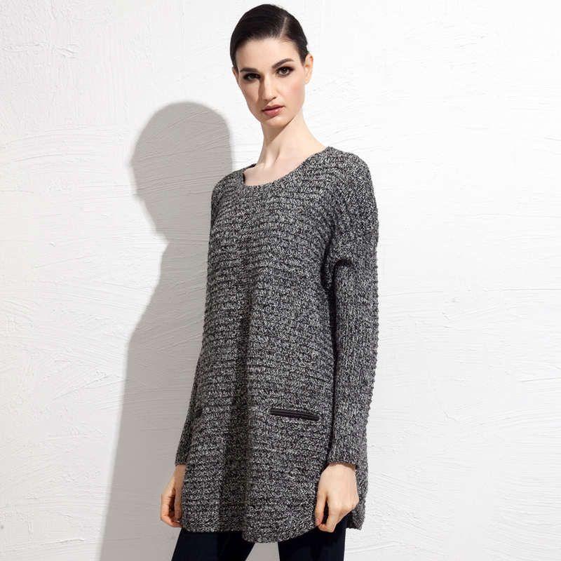 Sisjuly women winter sweater autumn long sleeve pockets women soft knitting casual one size loose solid warm women sweater