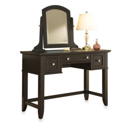 Home Styles Bedford Collection Vanity Set With Removable Mirror In