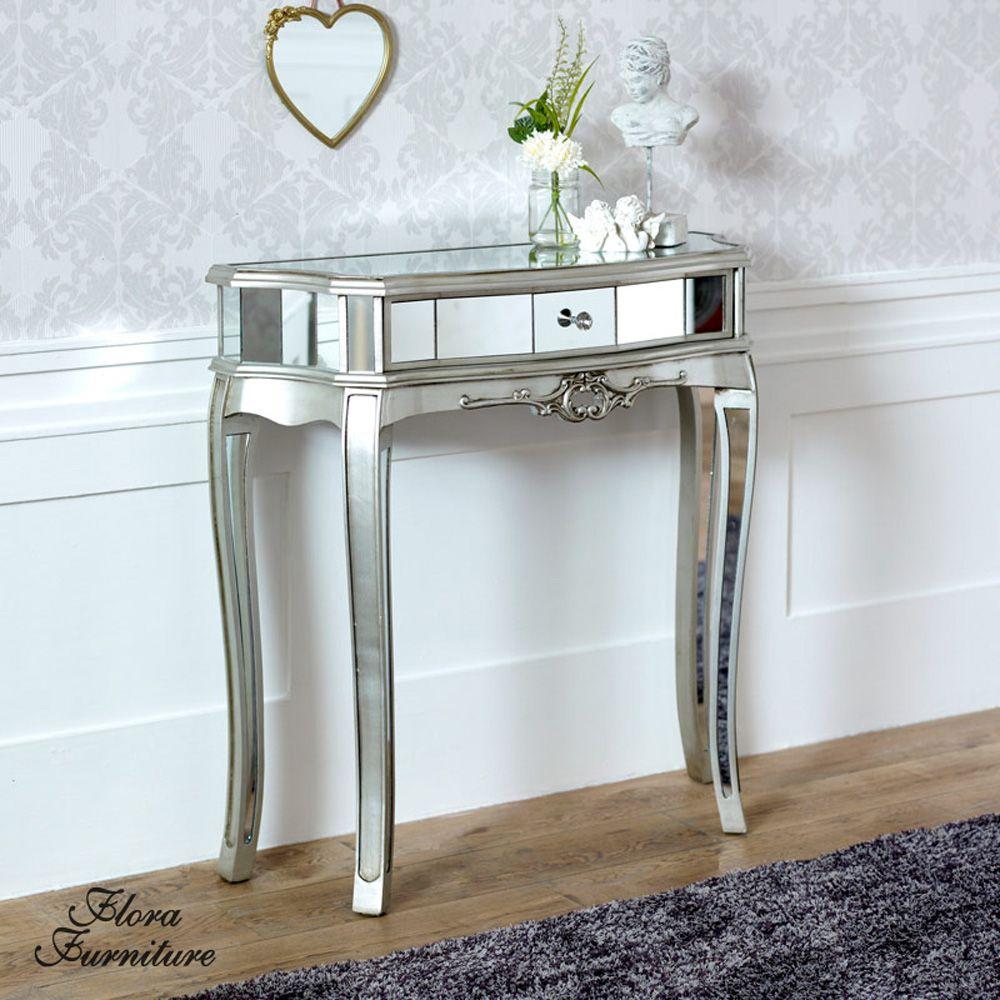 Tiffany Range Half Moon Console Table Mirrored Console Table