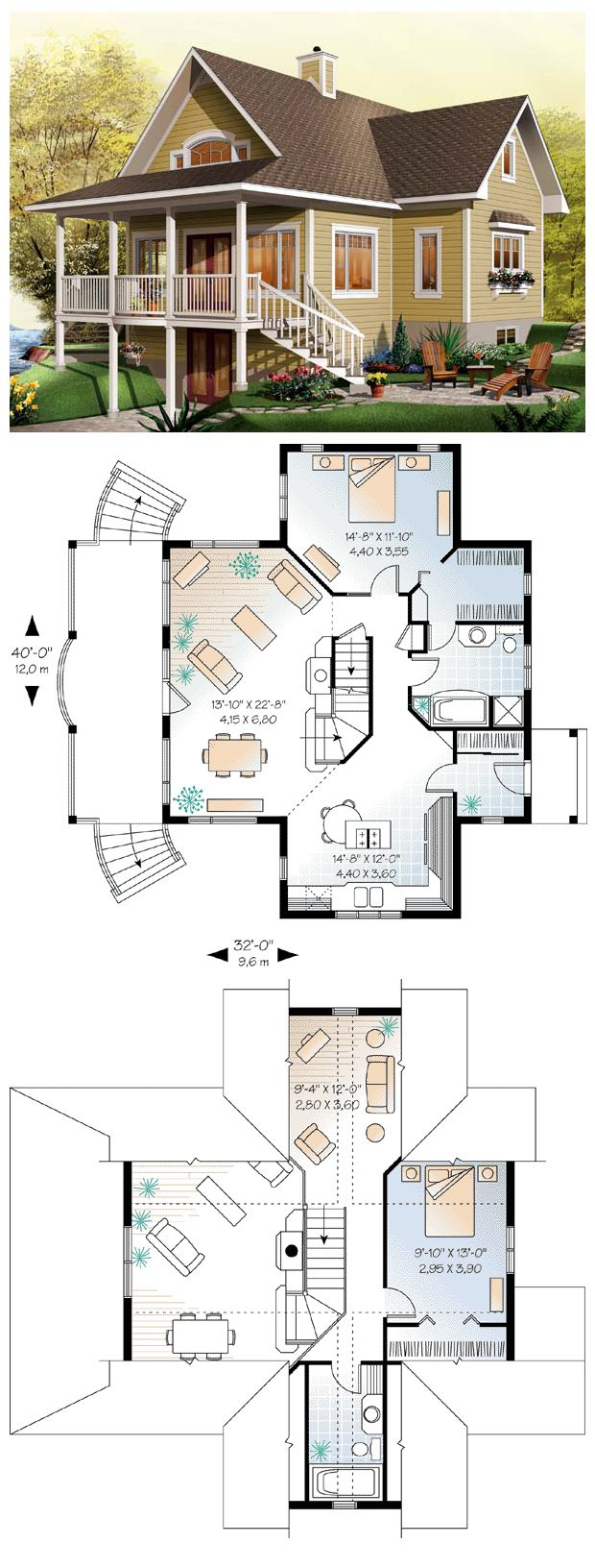 House Plan W3938 V2 Detail From Drummondhouseplans Com: The Open Kitchen Includes A