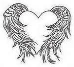 Heart Shaped Angel Wing Tattoos - Bing Images
