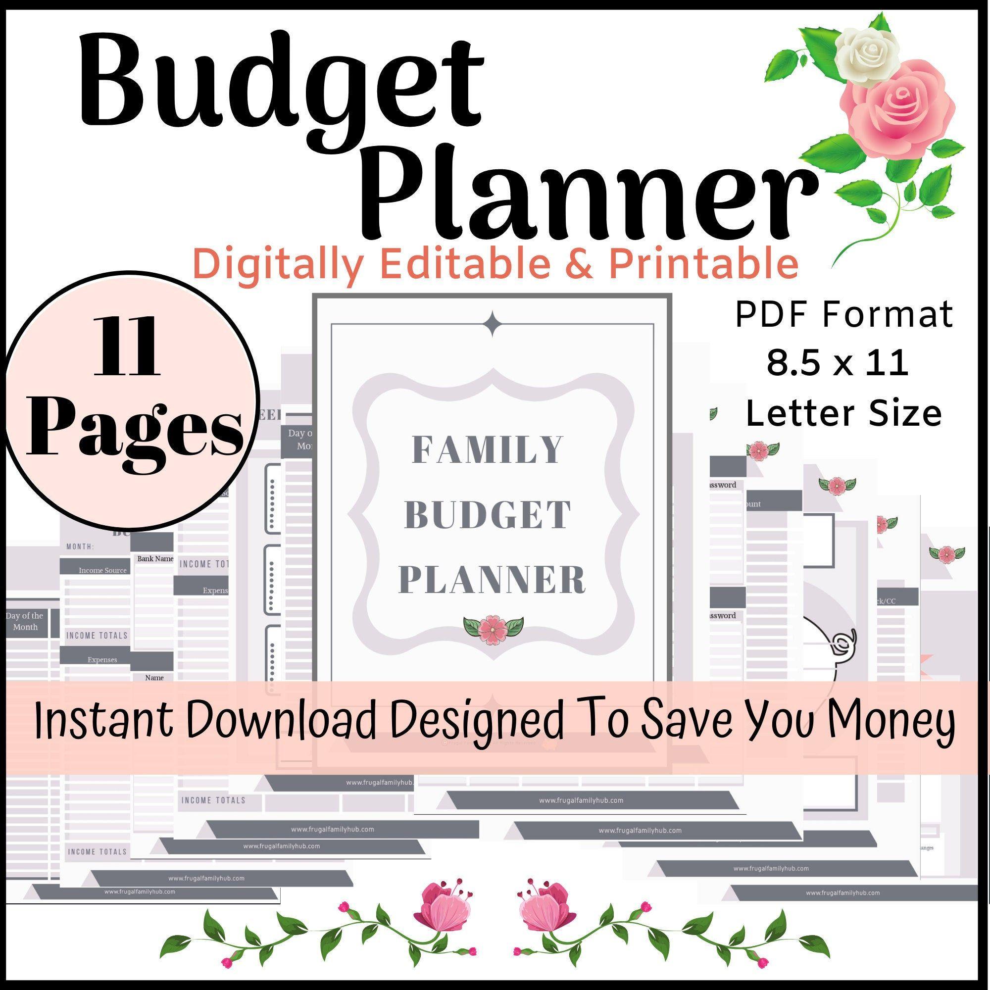 Financial Planner Financial Planner Printable Financial