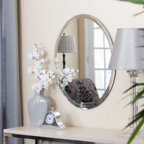 Uttermost Frameless Oval Beveled Vanity Mirror None