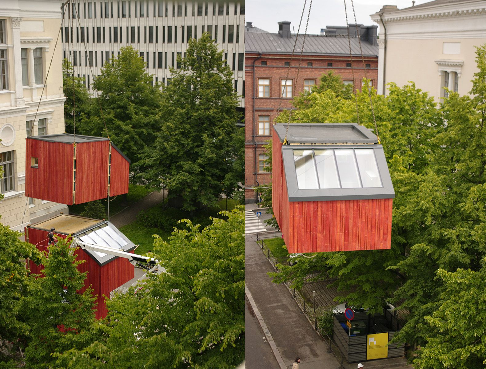 this tiny prefab solution to finland s housing shortage can pop up rh pinterest com