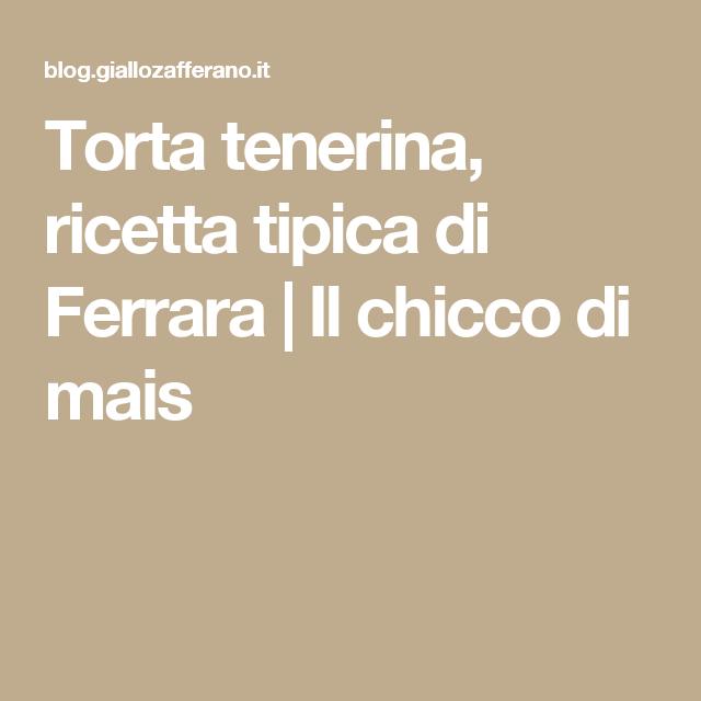 Torta tenerina, ricetta tipica di Ferrara | Il chicco di mais