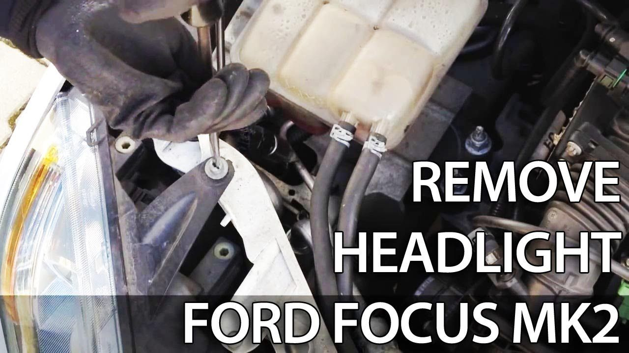 how to remove headlight for light bulb change in ford focus mk2 headlight disassembly  [ 1280 x 720 Pixel ]