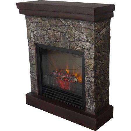 Home Improvement Stone Electric Fireplace Faux Stone Electric