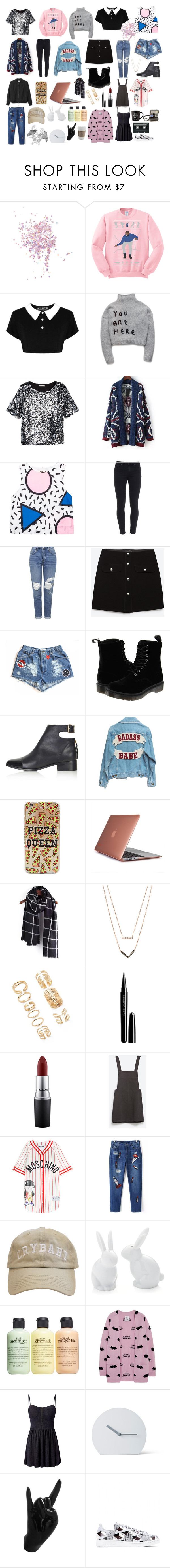 """""""things i like right now"""" by crescentchild ❤ liked on Polyvore featuring Topshop, H&M, Relaxfeel, Paige Denim, Zara, Dr. Martens, Speck, Michael Kors, Forever 21 and Marc Jacobs"""