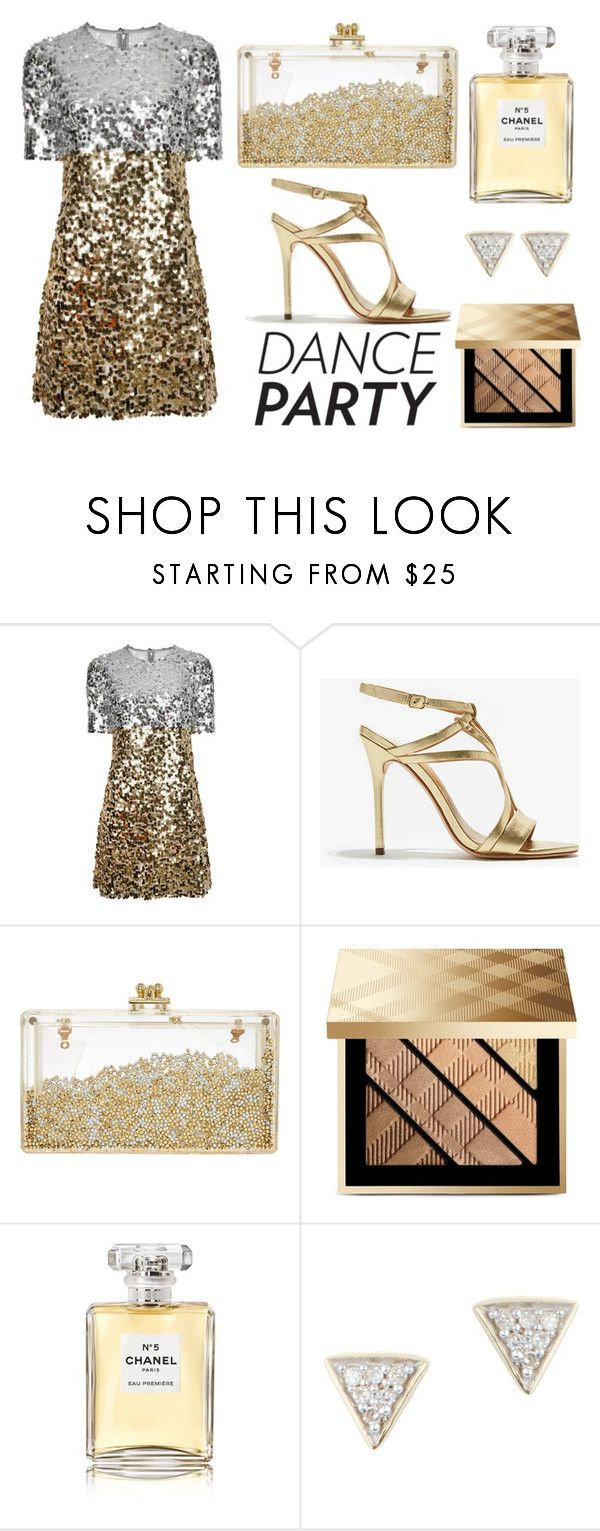 """""""Dance Party"""" by mollie-simmonds ❤ liked on Polyvore featuring Dolce&Gabbana, Halston Heritage, Burberry, Chanel and Adina Reyter"""