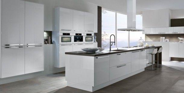 Hoogglans keuken wit Stylish Pinterest - küche fliesen ideen