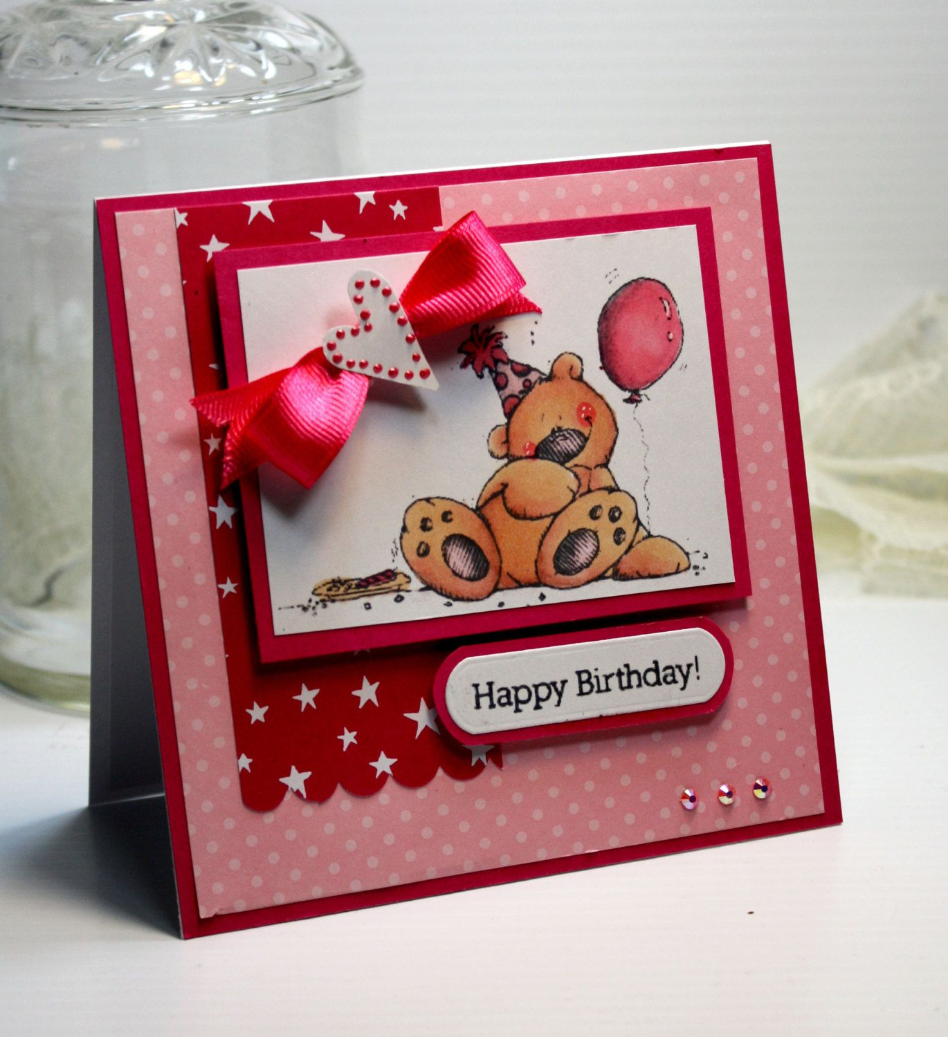 Birthday card handmade birthday greeting card 3d card happy birthday card handmade birthday greeting card 3d card happy birthday whipper snapper bear girl birthday celebrate stationery ooak bookmarktalkfo Choice Image