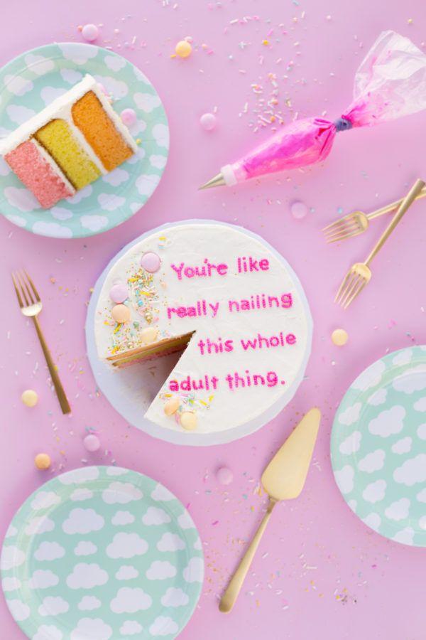 DIY Compliment Cakes (+ How To Write On Cakes!) | studiodiy.com