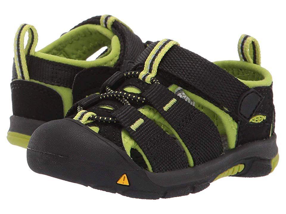 Keen Kids Newport H2 Toddler Kids Shoes Black Lime Green