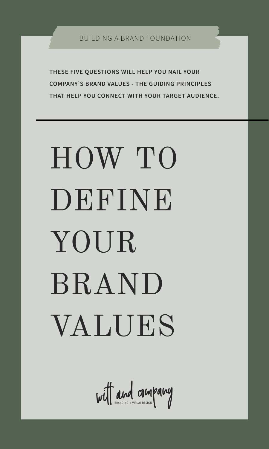 How To Define Your Brand Values Five Questions You Should Be Asking This Or That Questions Branding Advice Company Values