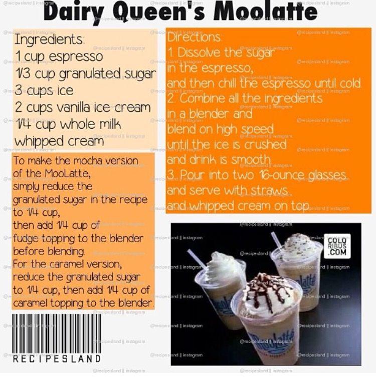 Dairy queens moolatte frozen coffee drinks mocha