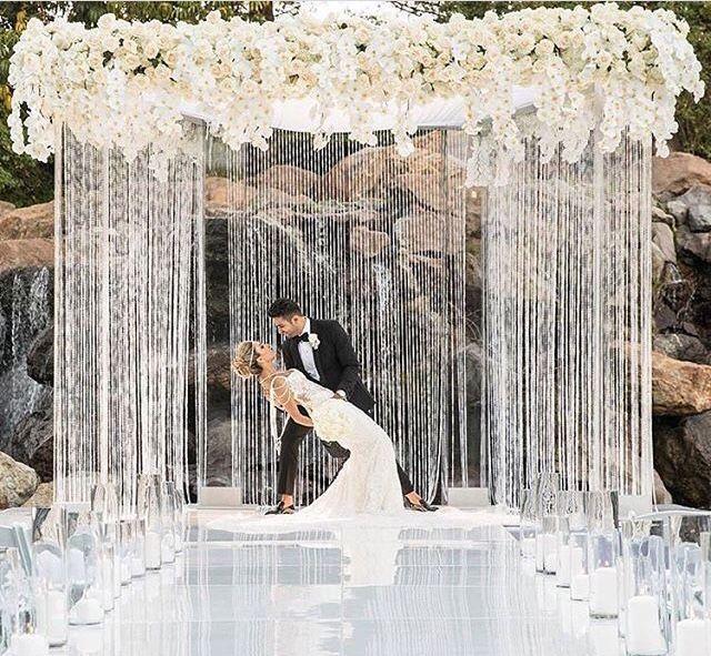 Beautiful Indoor Wedding Ceremony: Beautiful Backdrop Featured On Instagram @weddingdream