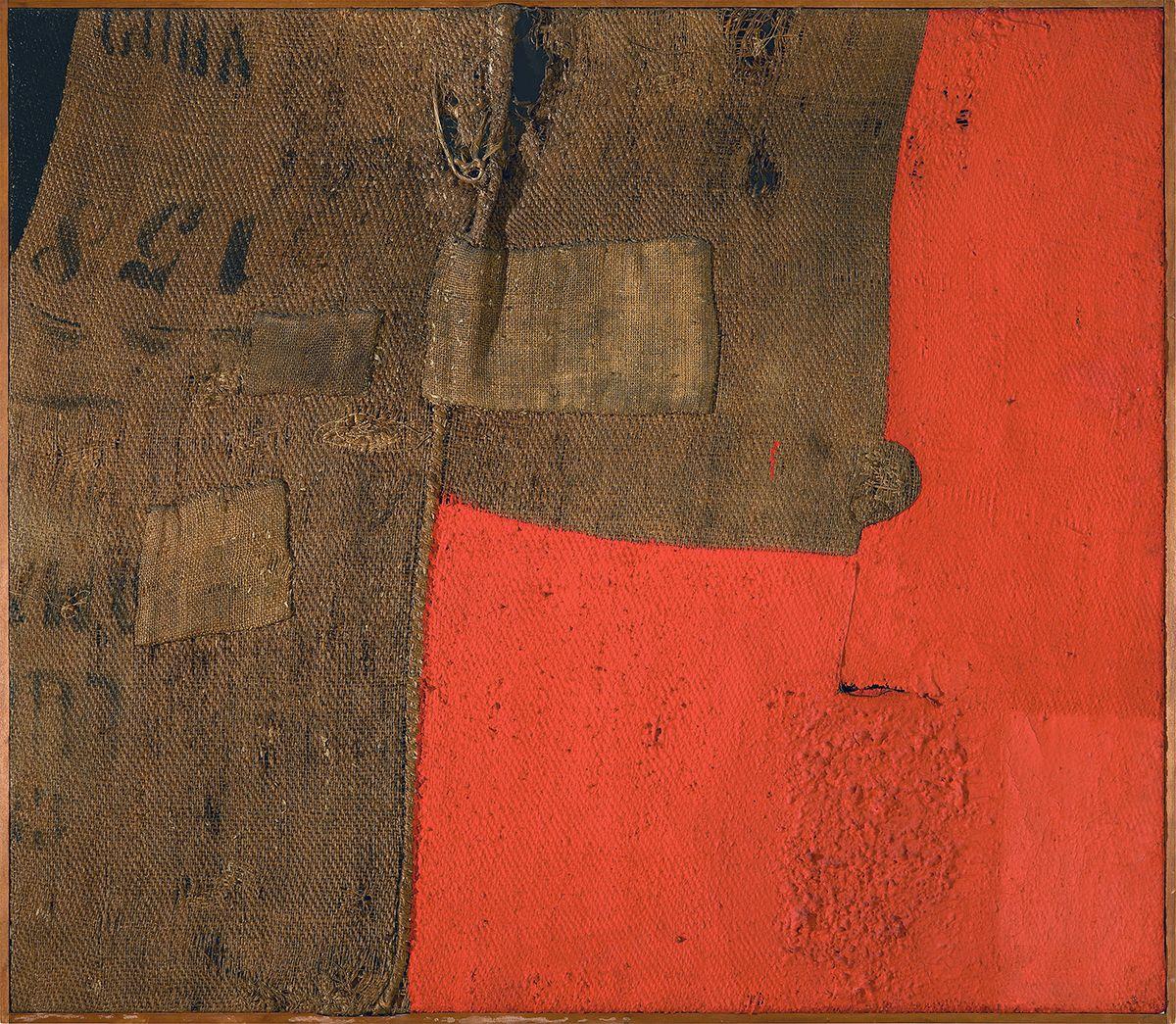 The Star Of Burri Shines At The Guggenheim Museum Alberto Burri Painting Modern Artwork