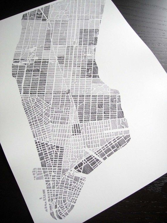 manhattan art print by studiokmo map manhattan nyc