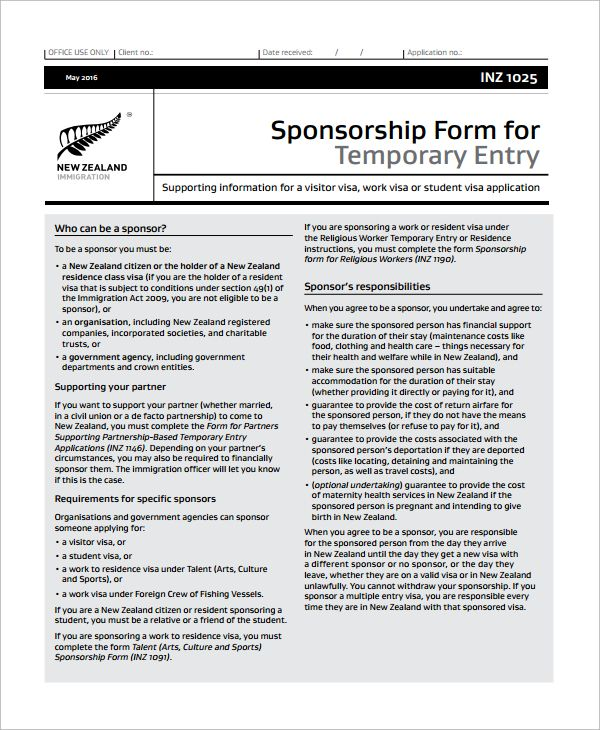 10+ Sponsorship Form Templates Word, Excel  PDF Templates www
