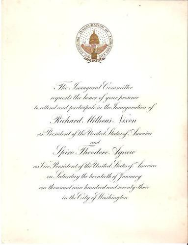 President Richard Milhous NIXON Agnew 1973 Presidential - nixon resignation letter