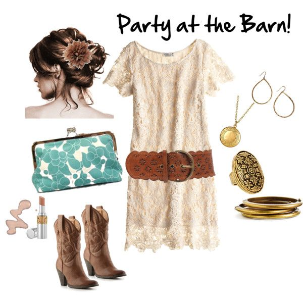 Party at the Barn | Lace dress with sleeves, Fashion ...