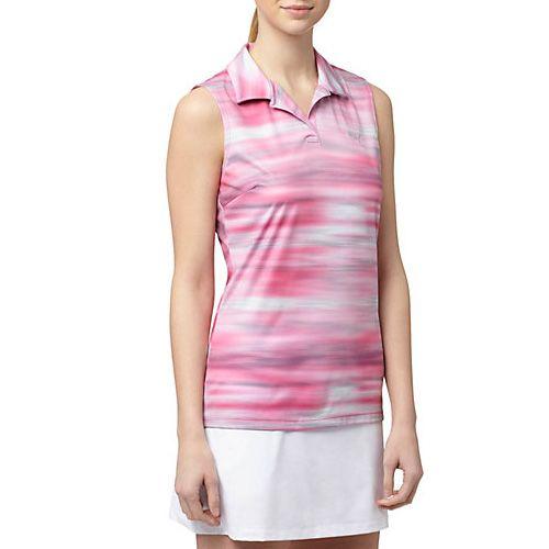 Puma Shocking Pink Uncamo Sleeveless Golf Polo Shirt - Best Chic Fashion