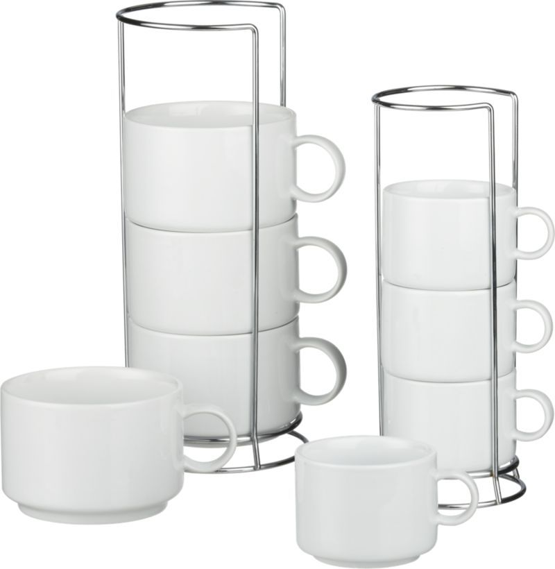 jumbo stacking mugs and stacking coffee